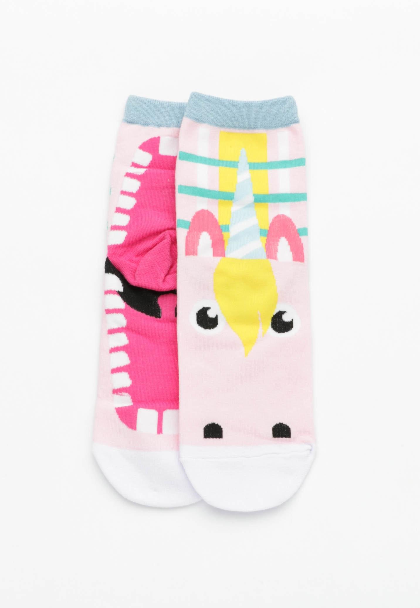 Unicorn Mouth Socks - Baby Pink