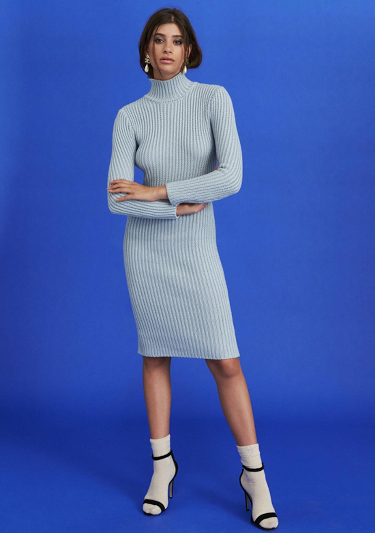 11e6838500cc Lioness - Manhattan Knit Dress - Cloud Grey - Express Shipping Bardot,  Winona & More - Onceit