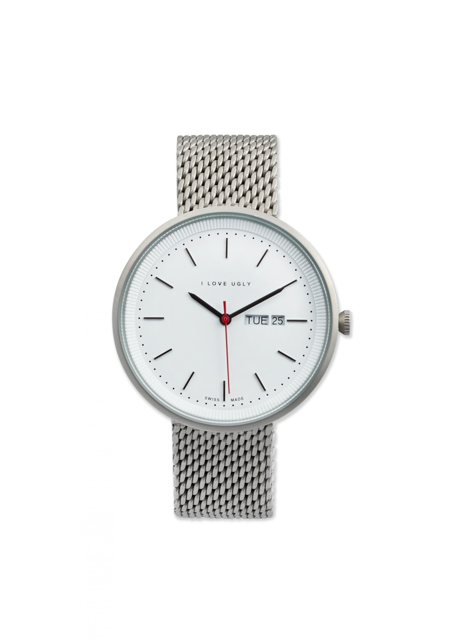 I Love Ugly - Archibald Watch Silver Mesh