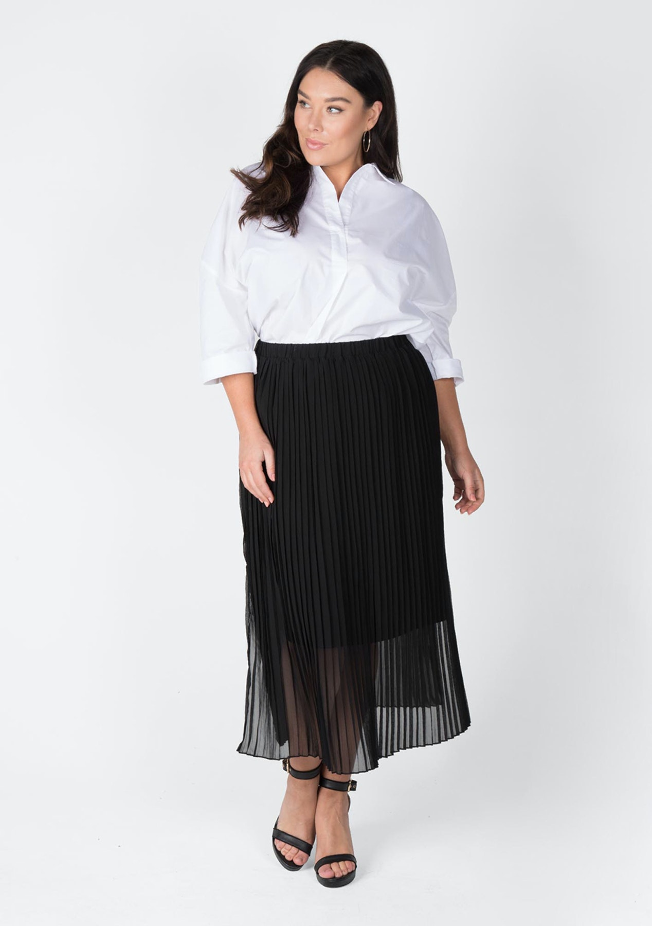 ce3b1a98a41c3 Love Your Wardrobe - Pleated Maxi Skirt - Black - Love Your Wardrobe ...