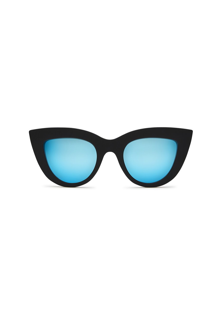Quay - Kitti - Black / Blue Mirror