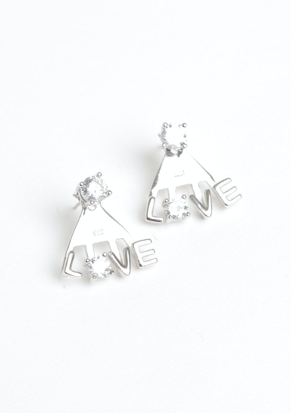LOVE Ear Jacket - 925 Silver