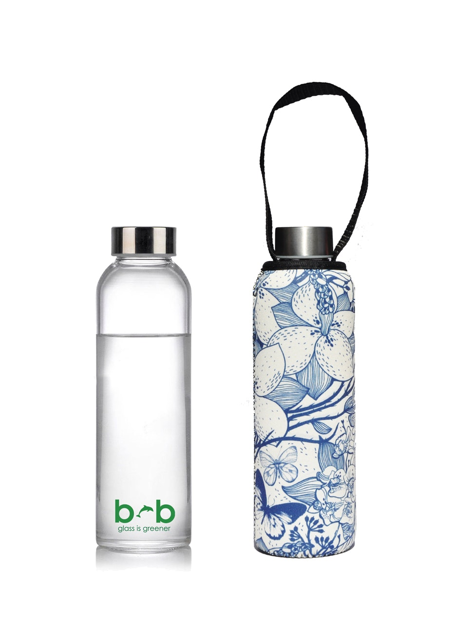 BBBYO - Glass Is Greener Bottle 570 ml + Carry Cover (Sing Print) - 570 ml