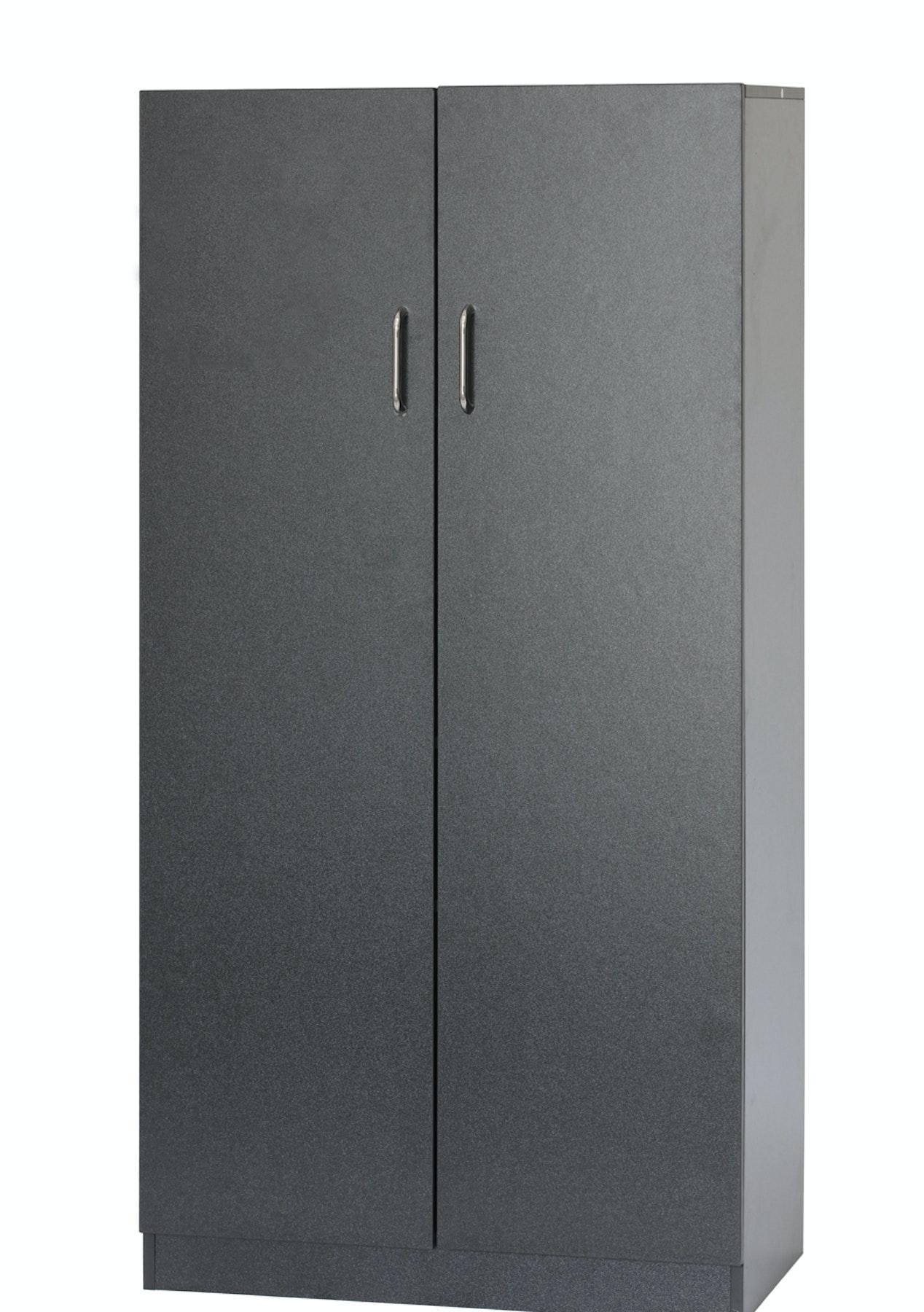 12m 2 Door Storage Cabinet Black The Big Furniture Clearance