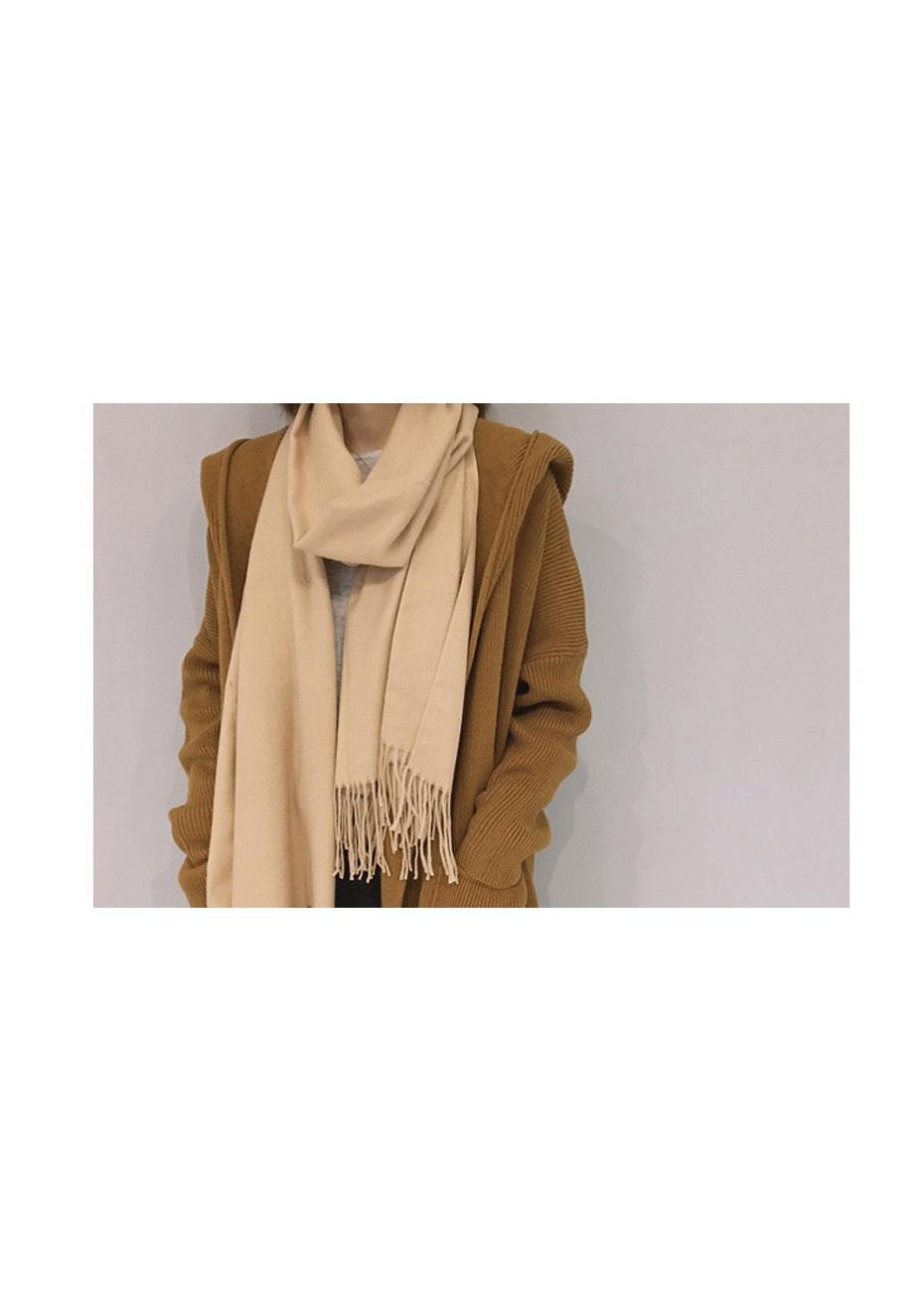 Cashmere Blend Wrap Scarves - Camel