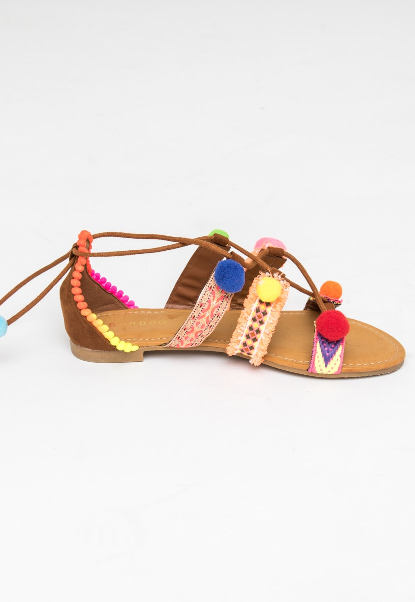 Pom Pom Sandal - Pink