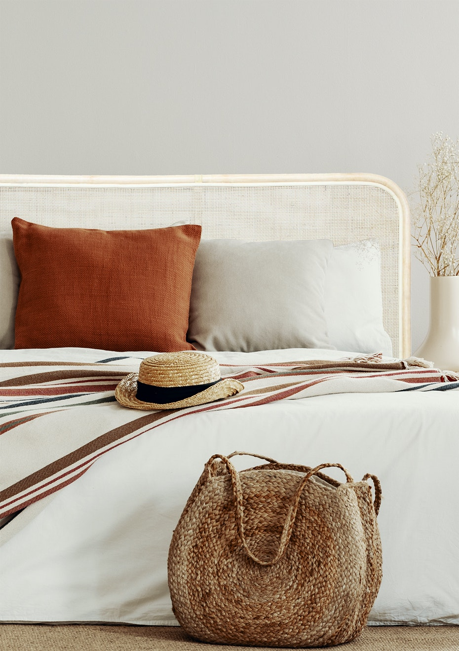 General Eclectic Rattan Headboard Queen Natural New General Eclectic Rattan Furniture More Onceit