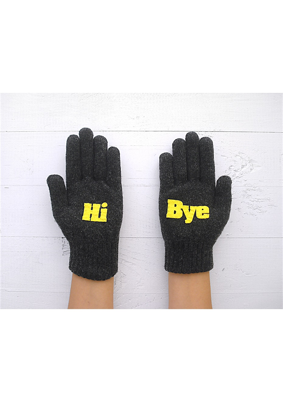Hi-Bye Gloves - Charcoal