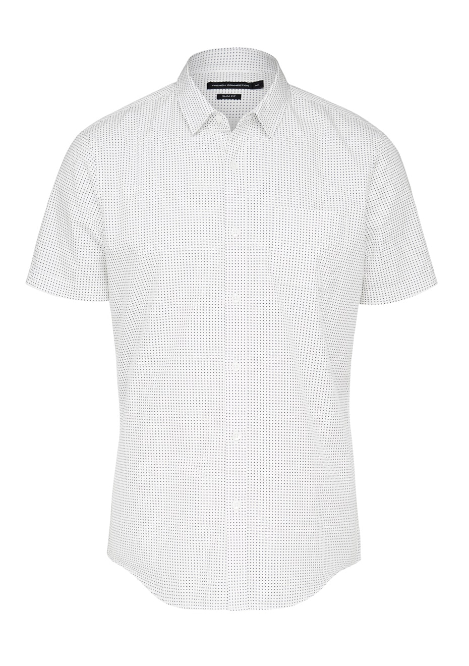 French Connection - Star S/S Slim Fit Shirt - White