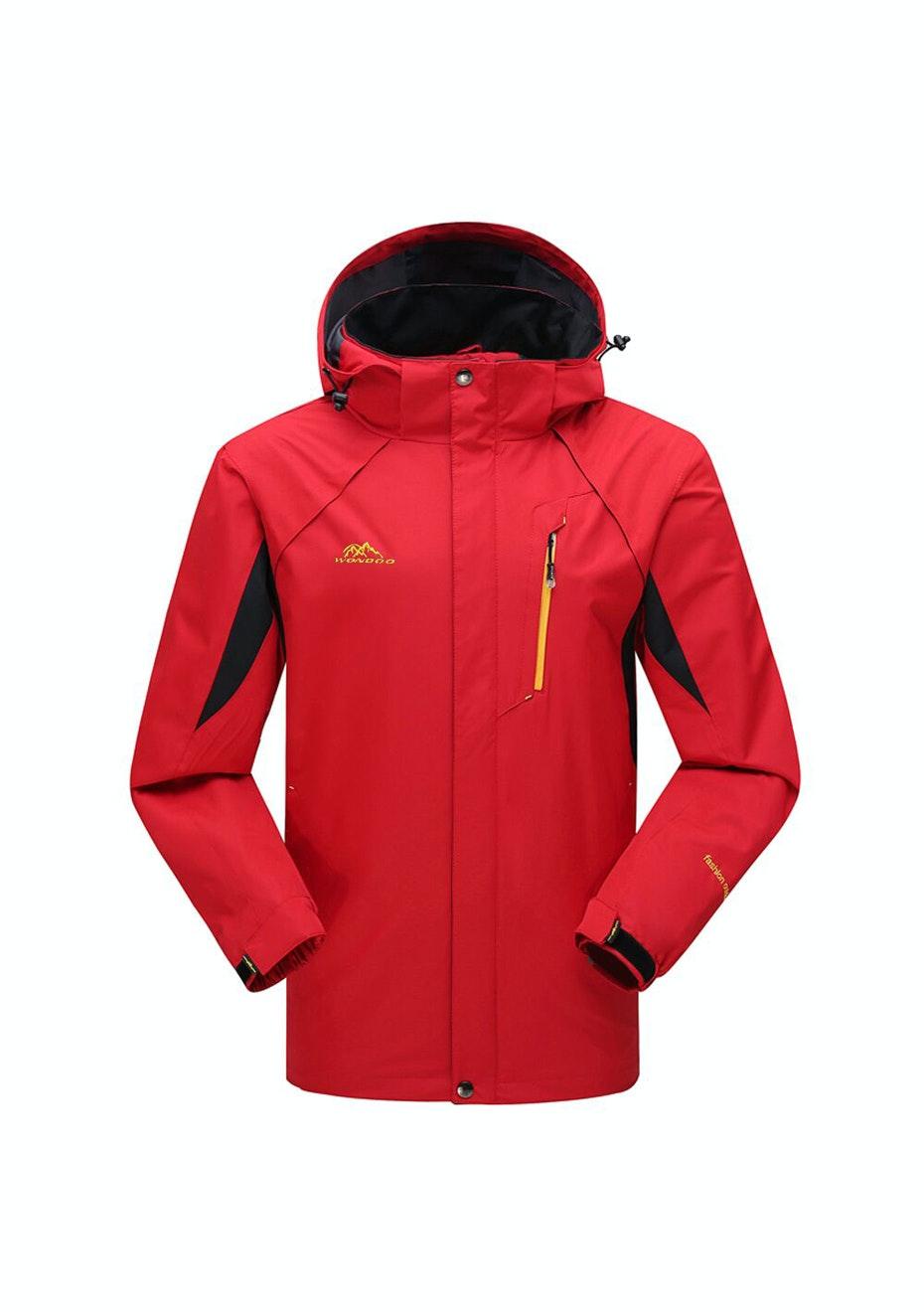 Women 2-in-1 WaterProof Jackets - Red / Black