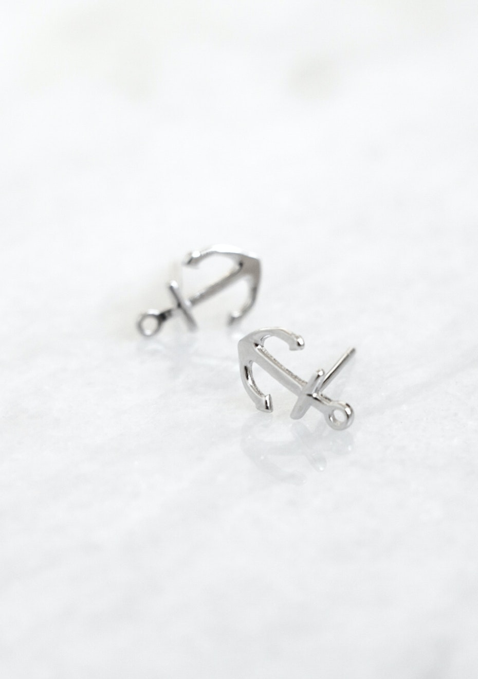 925 Sterling Silver - Anchor Earring