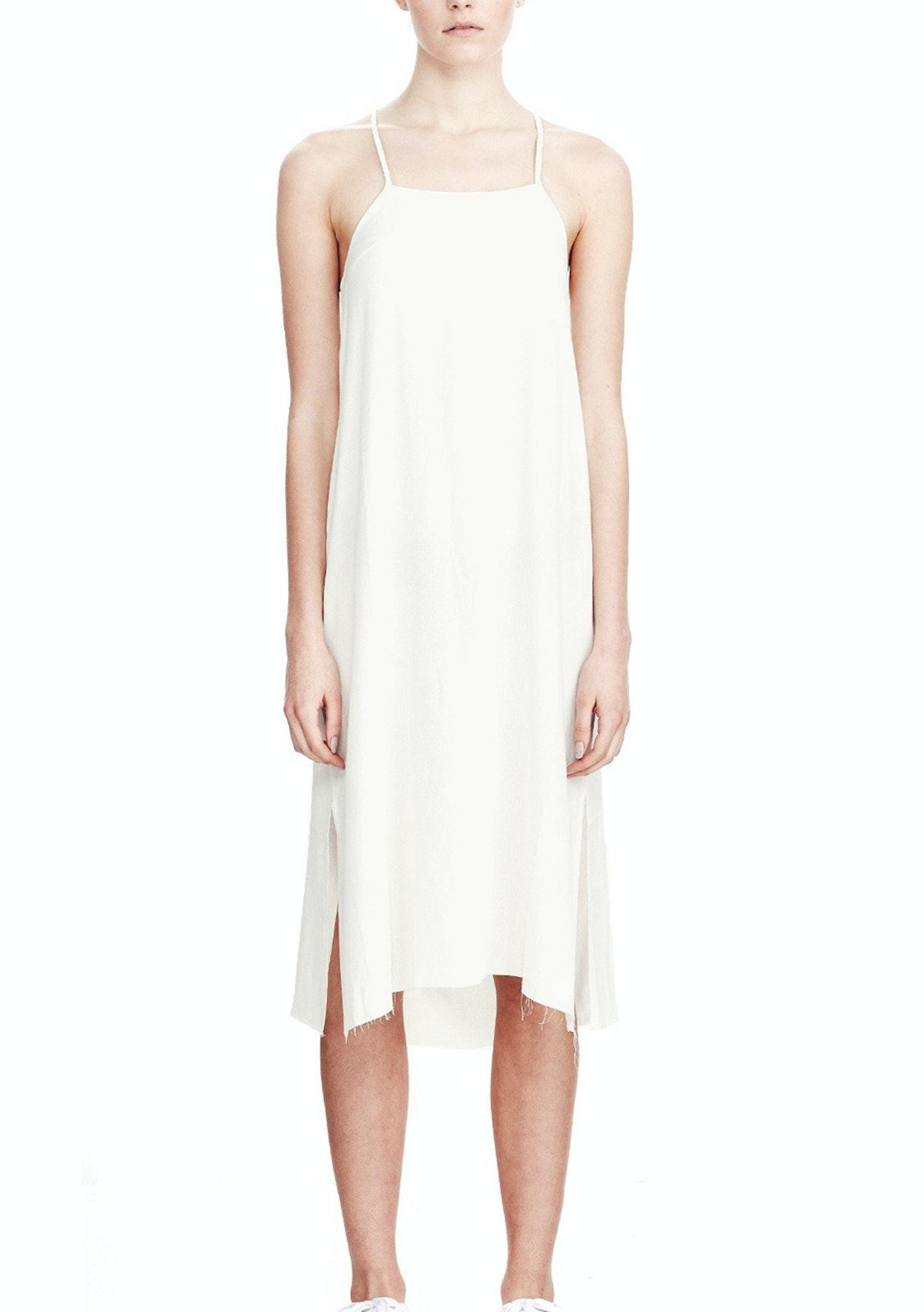 Commoners - Crossover Slip Dress - Ivory - Designer Fashion Brands ...