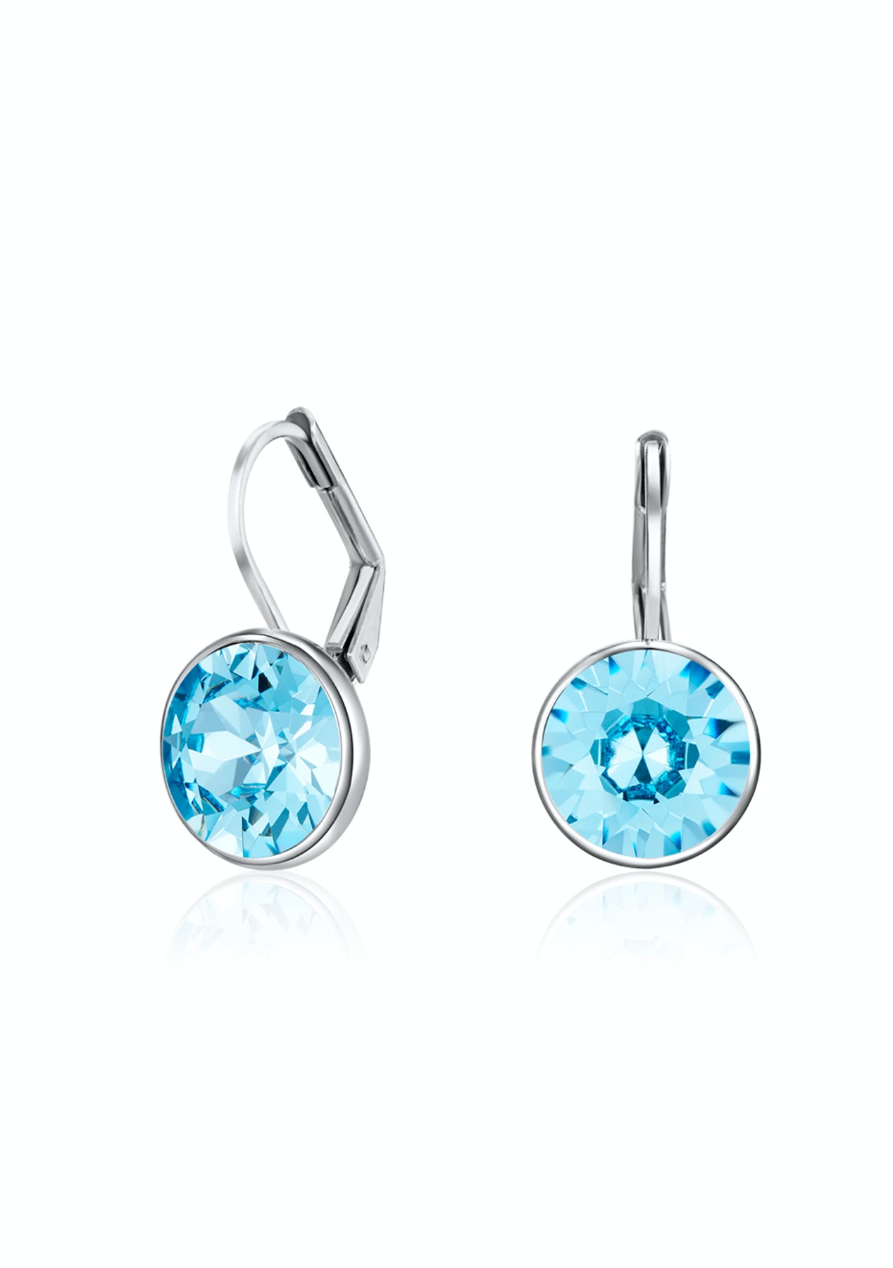 Drop Earrings|White gold plated Embellished with Crystals from Swarovski