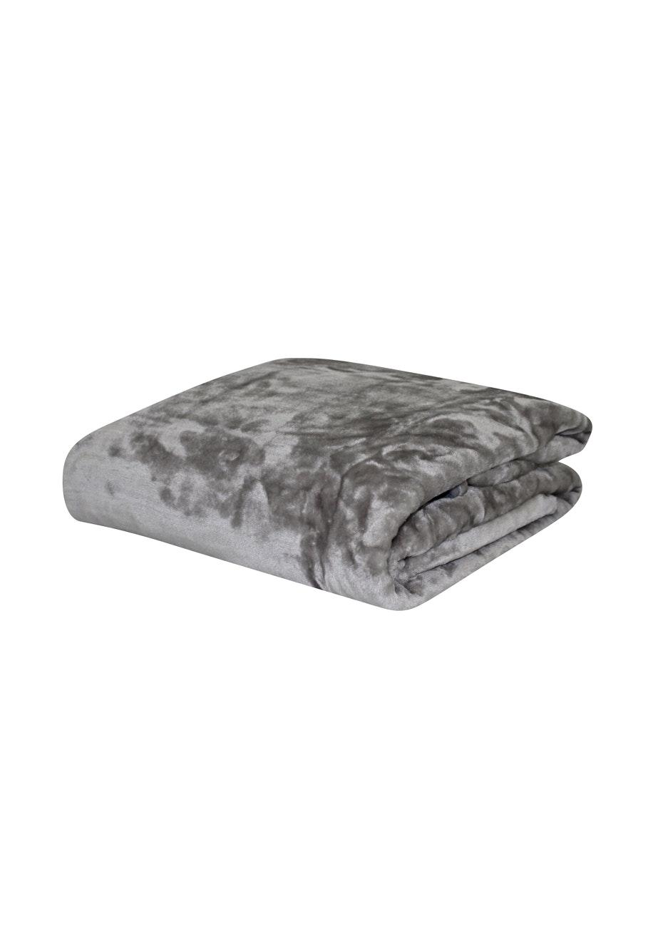 Mink Blanket - 400Gsm - Single Bed - Silver