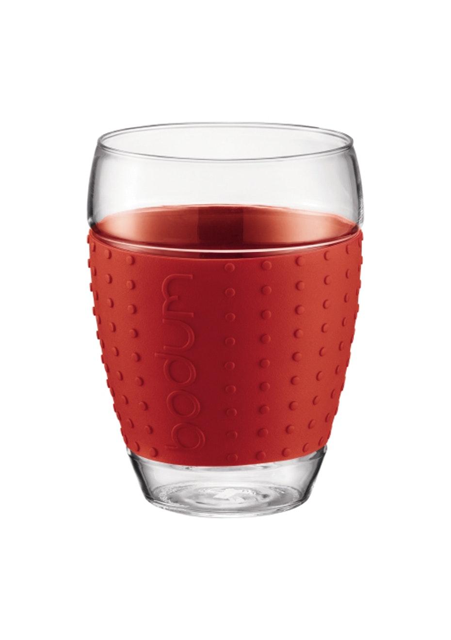 Bodum - 2 Pcs Glass, 0.45L - Red