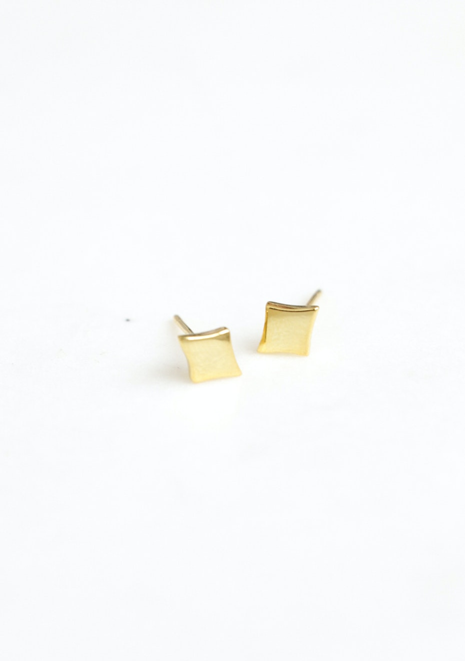 Square Stud  - Gold Plated