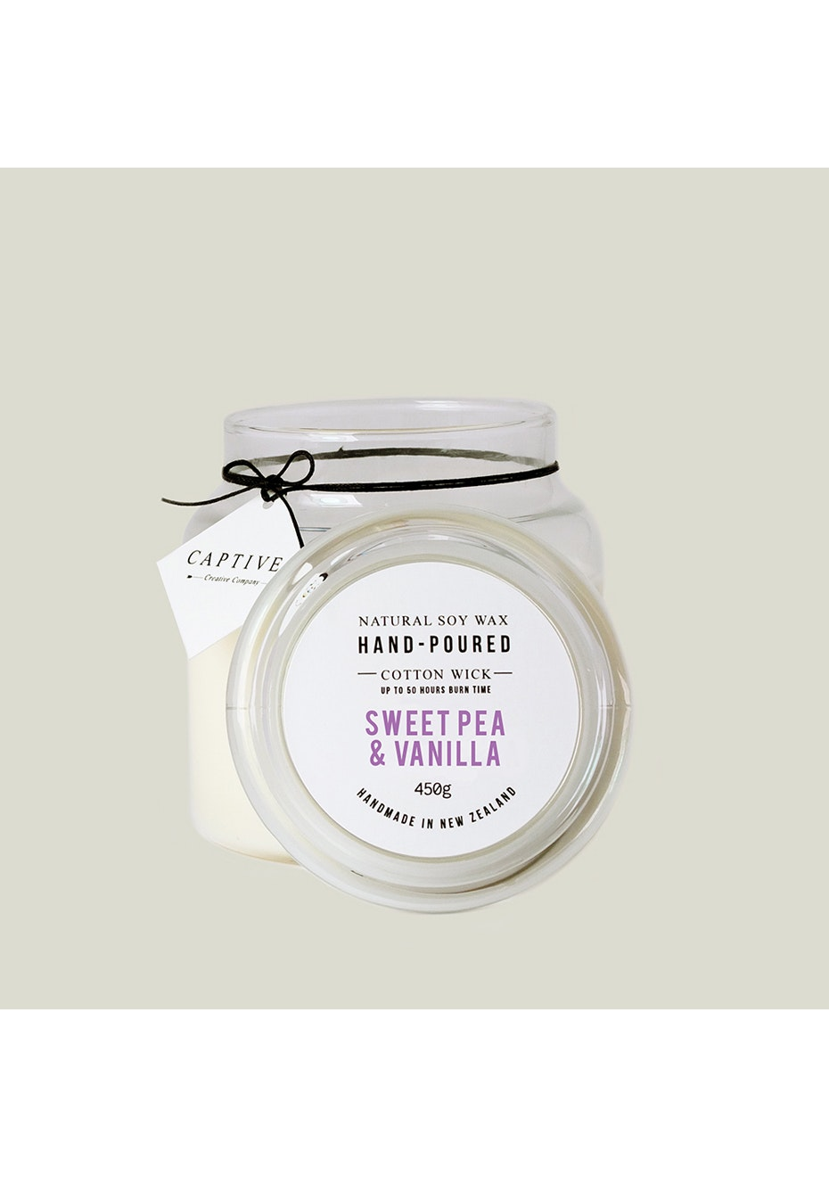 Captives Cotton Wick Candle - Sweet Pea/Vanilla