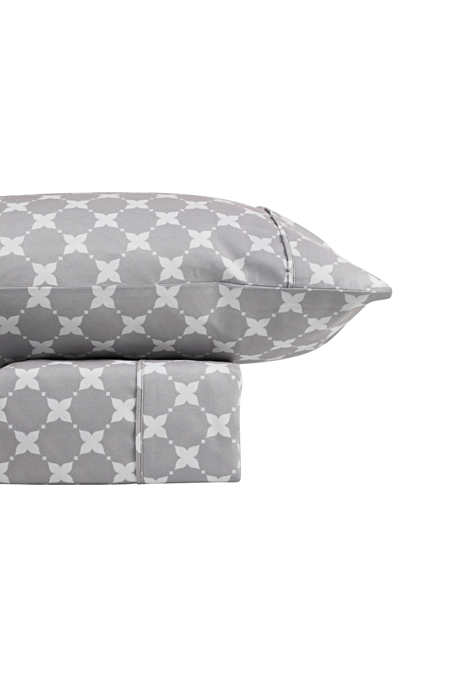 Thermal Flannel Sheet Sets - Aspen Design - Glacier - Queen Bed