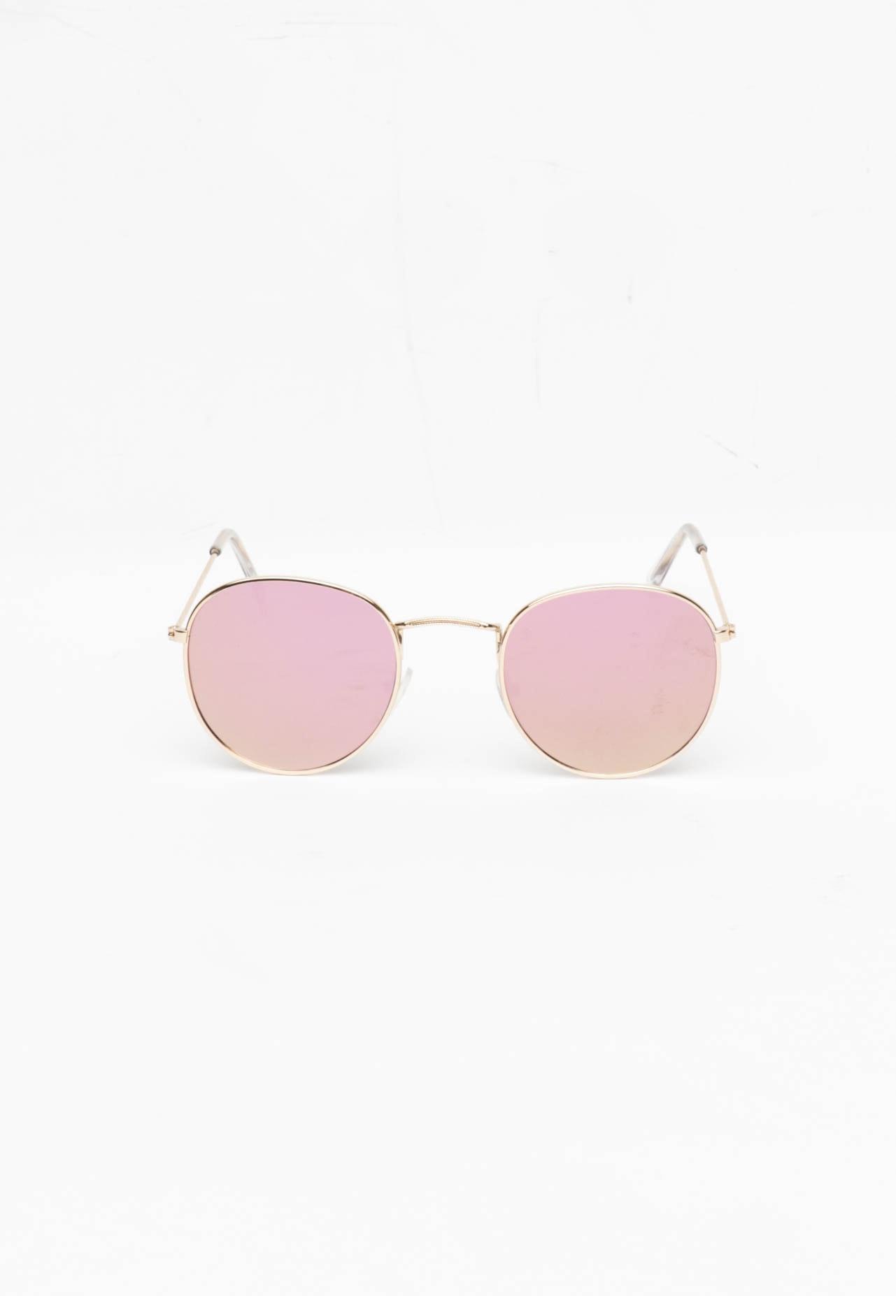 Retro Round - Gold Frame/ Pink