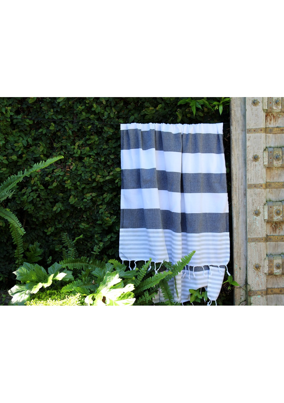 Ladon Black & Grey Turkish Towel