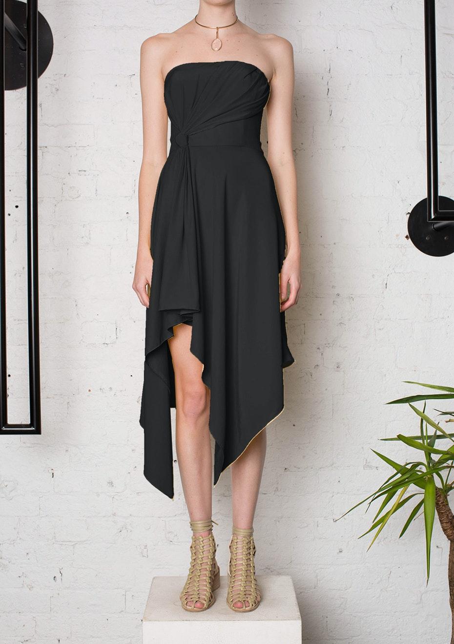 KITX - Honest One Strapless Dress Silk- Black