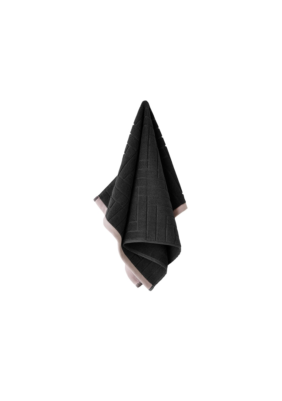 Aura Parquet Hand Towel 450 X 700Mm Charcoal