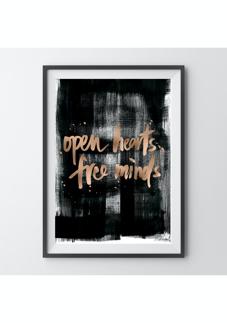 Simply Creative - Free Minds - A4 Copper Foil Print