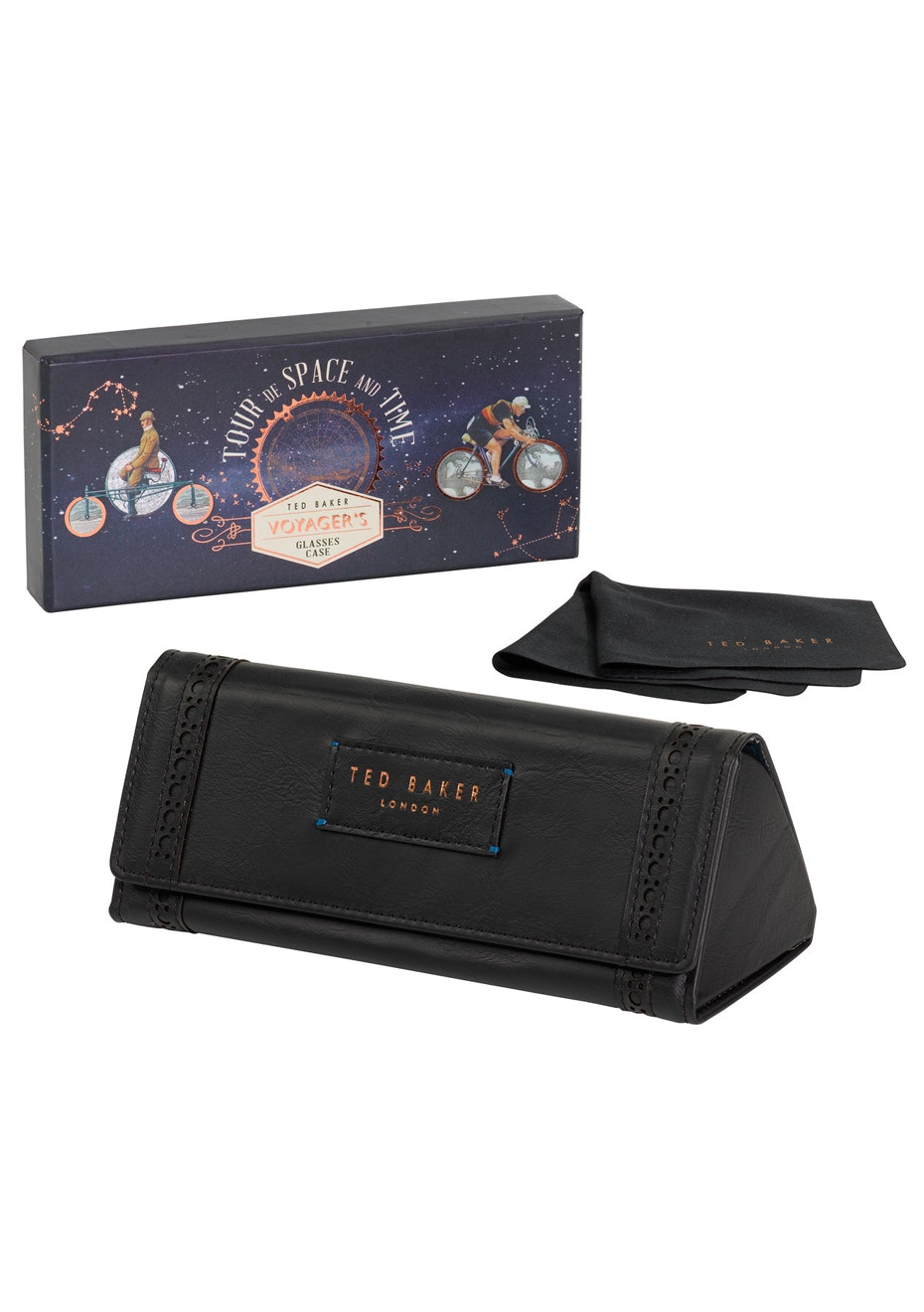 Ted Baker - Mens Brogue Folding Glasses Case -
