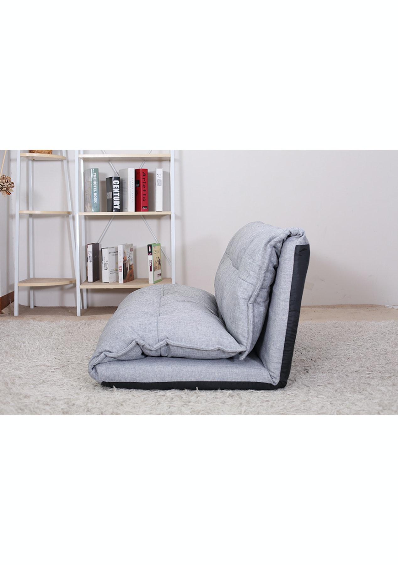 Astounding Double Folding Sofa Lounge Chair Grey Cjindustries Chair Design For Home Cjindustriesco