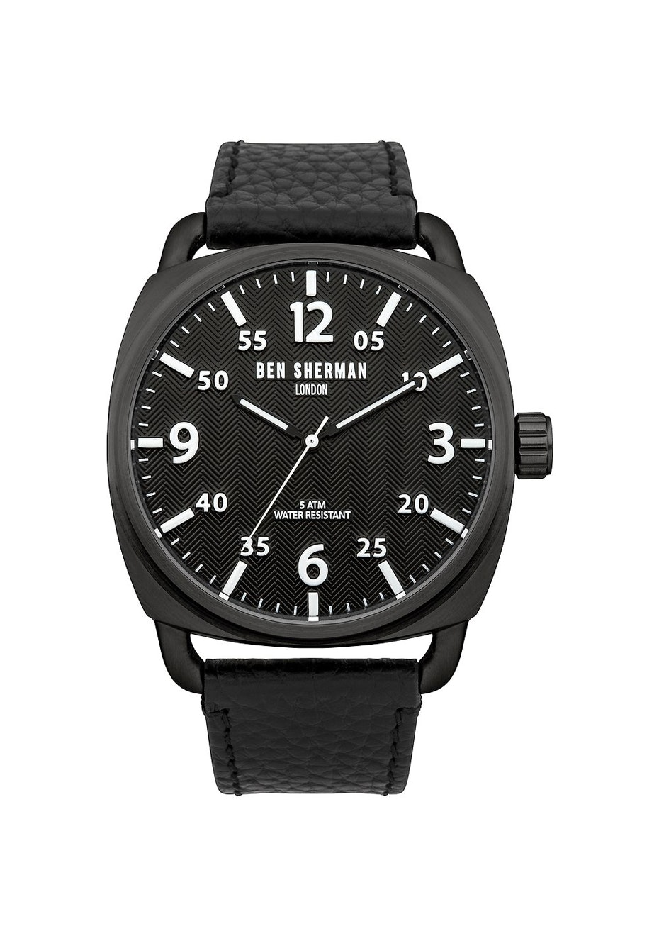 Ben Sherman - Black Leather Watch W Black Dial