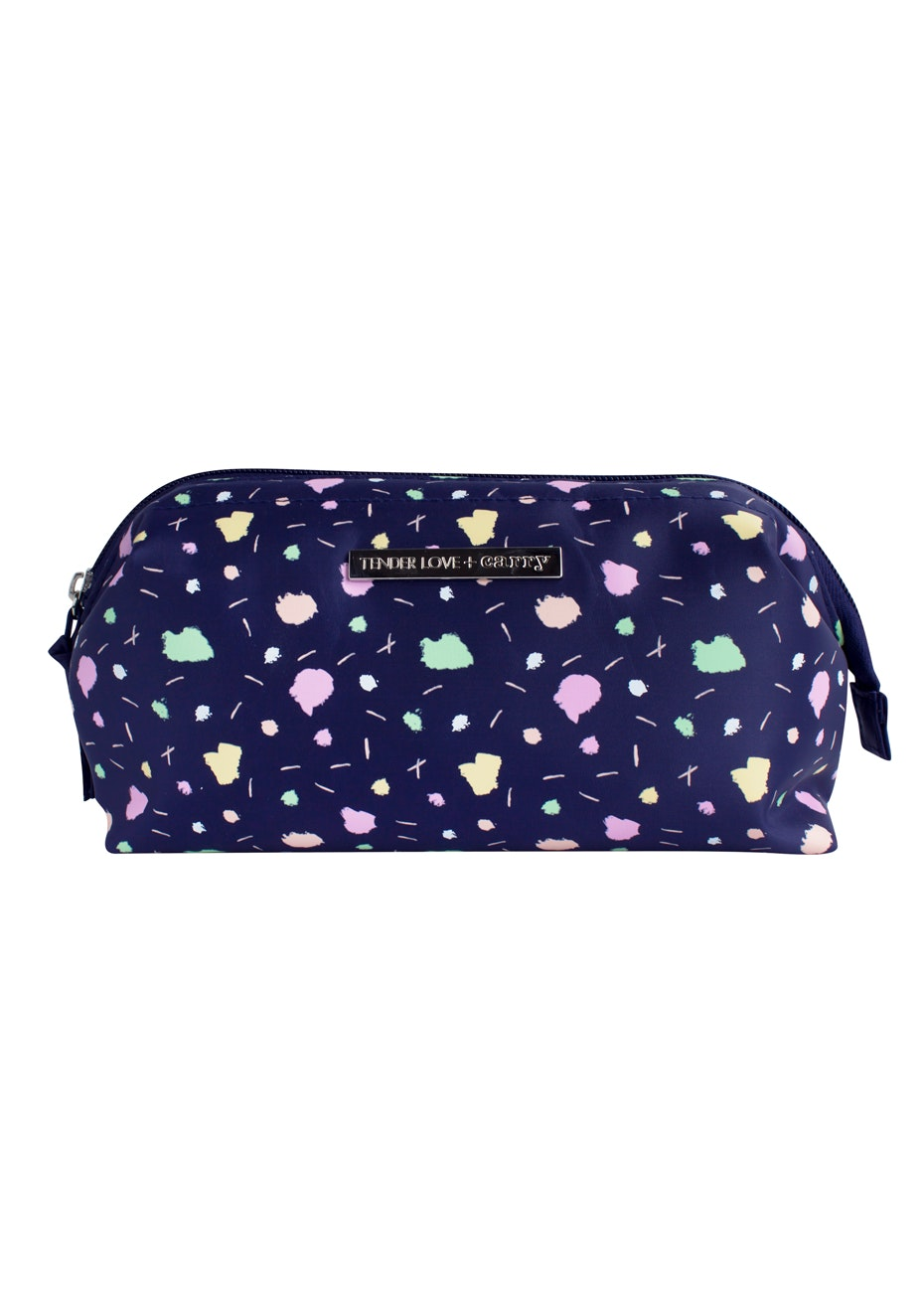 TL+C - Kelly Frame Washbag - Navy Print