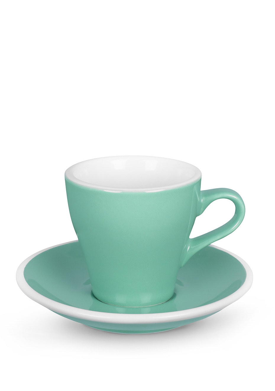 ACME Pack of 6 - Tulip Cup & Saucer 170ml - Green