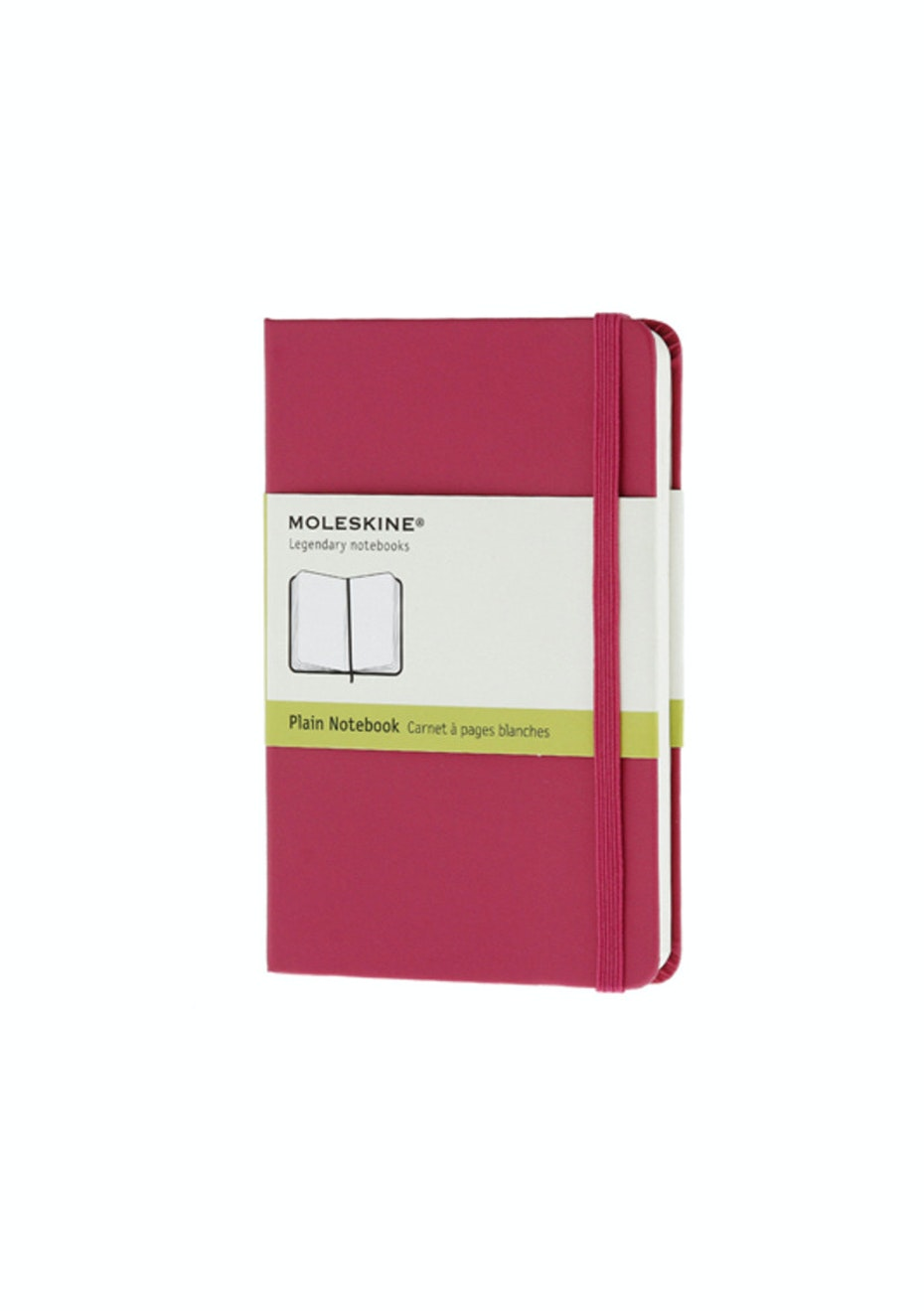 Moleskine - Classic Hard Cover Notebook - Plain - Pocket - Magenta