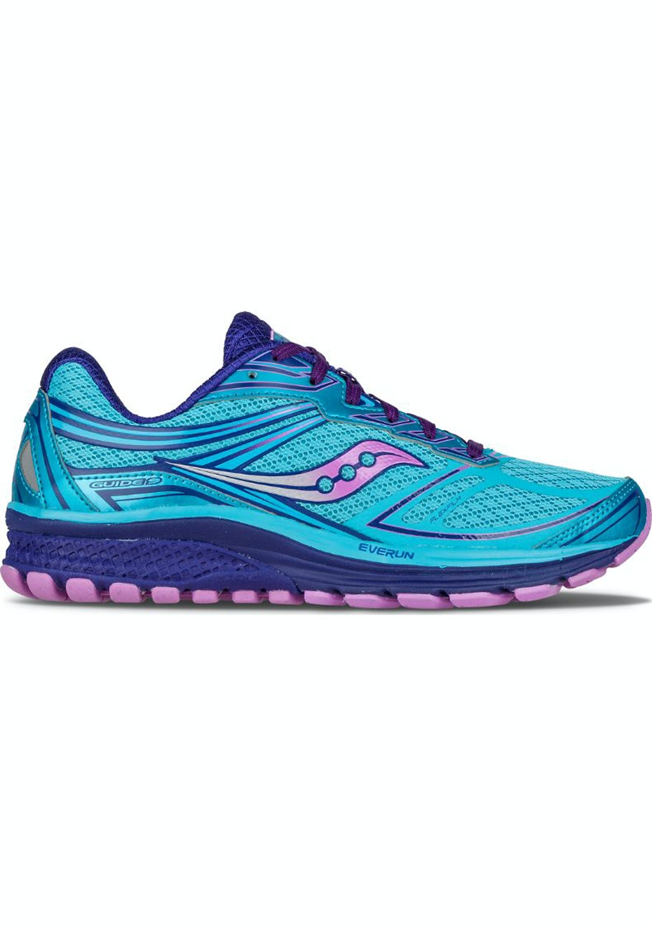 Saucony Womens  - Guide 9 - Blue/Purple/Pink (B)