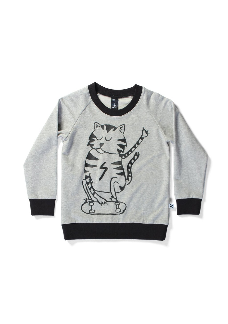 Minti - Thrasher Cat - Summer Crew - Boys - Grey/Black