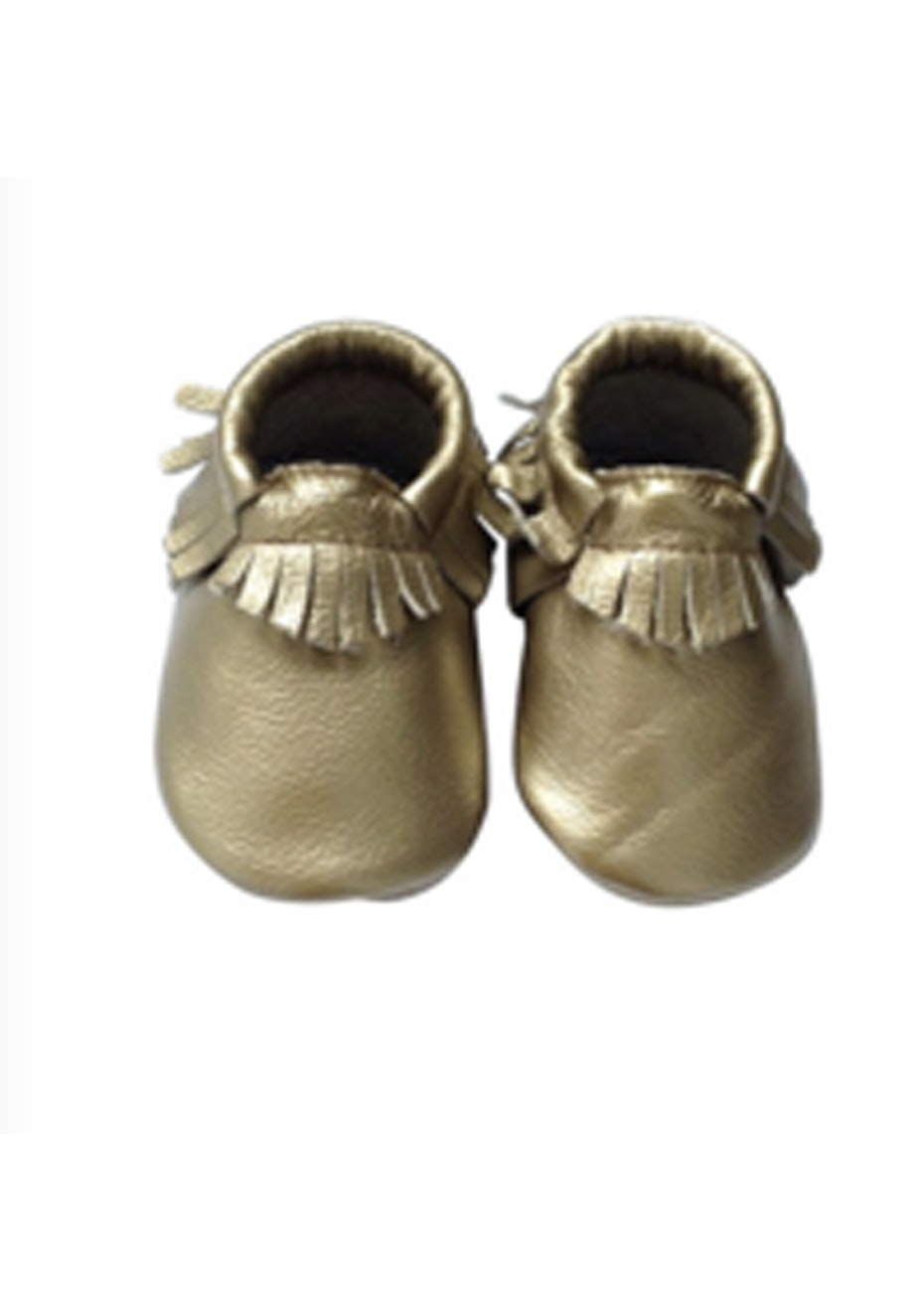 Baby  Leather Shoes - Light Gold