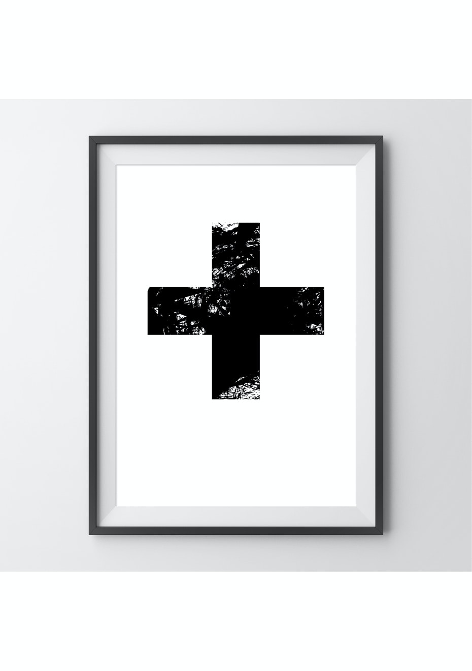 Simply Creative - Cross - A4 Monochrome Print