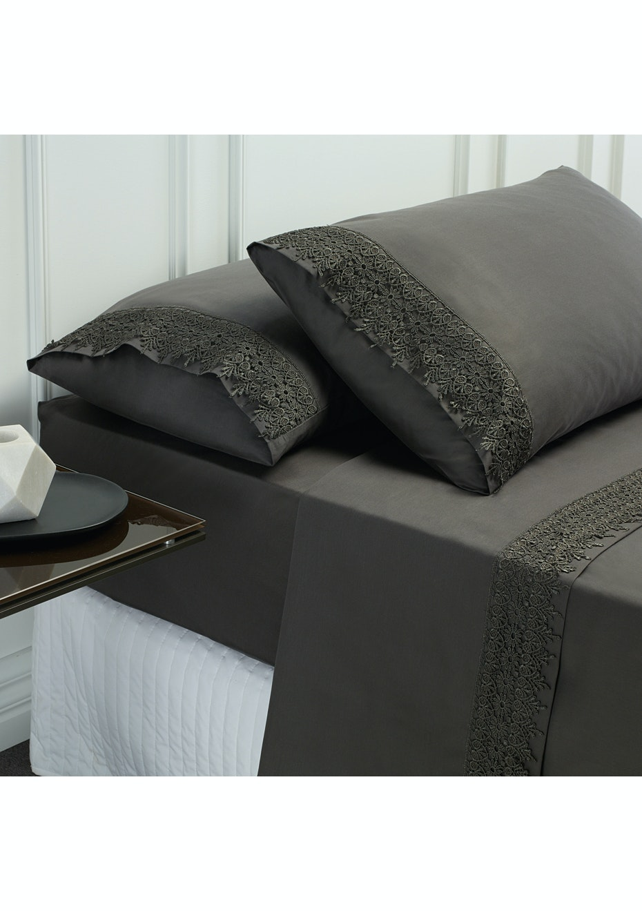 Style & Co 1000 Thread count Egyptian Cotton Hotel Collection Valencia Sheet sets King Coal