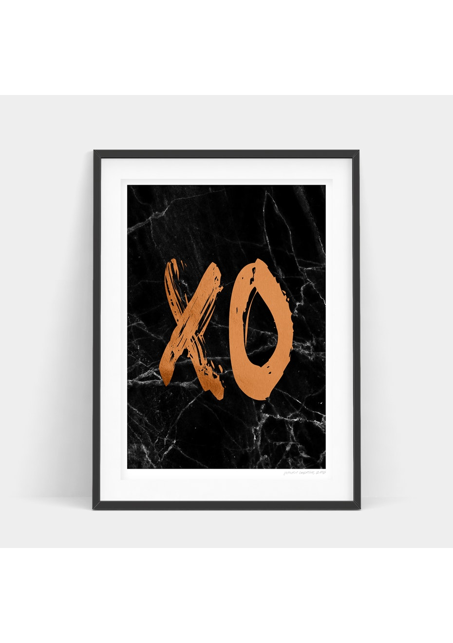 Simply Creative - Dark Copper Xo - A4 Copper Foil Print