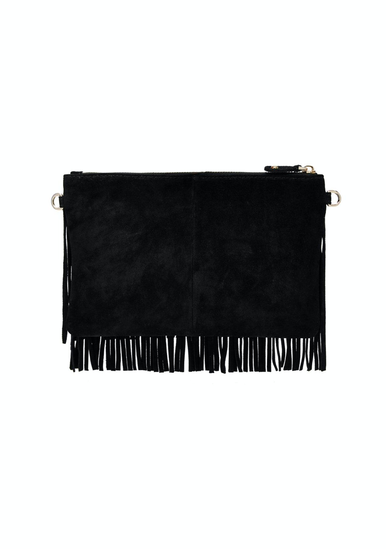 50135e11cefd Mighty Purse Charging Suede Fringe Clutch over the shoulder - Free Shipping  Jewellery
