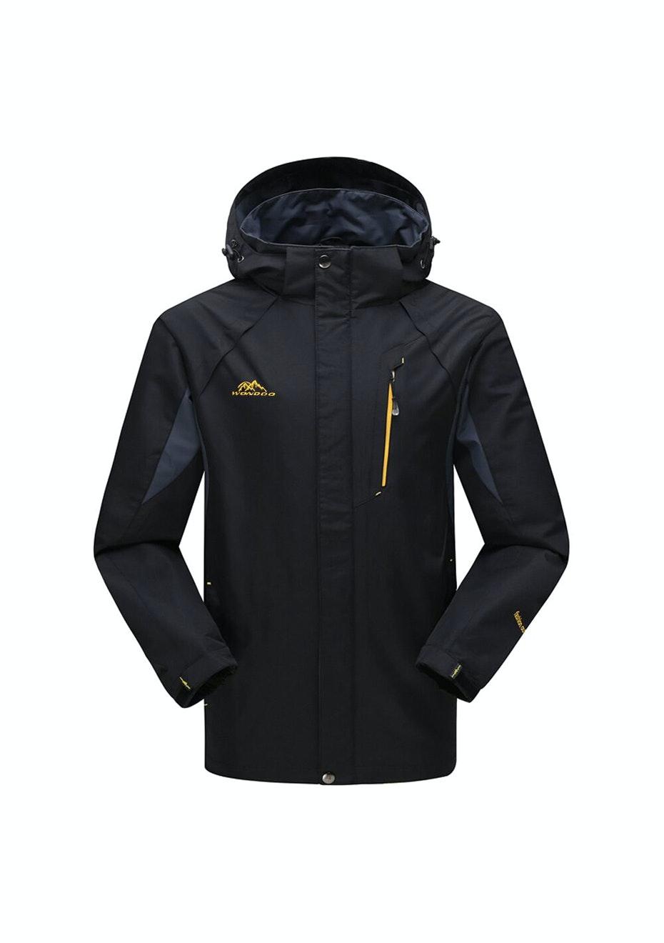 Men 2-in-1 WaterProof Jackets - Black / Grey