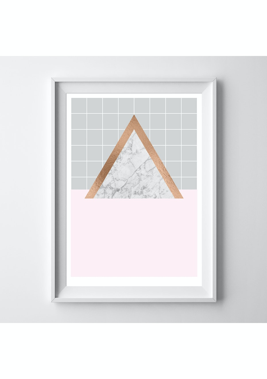 Simply Creative - Limited Edition Blush Triangle - A3 Copper Foil Print