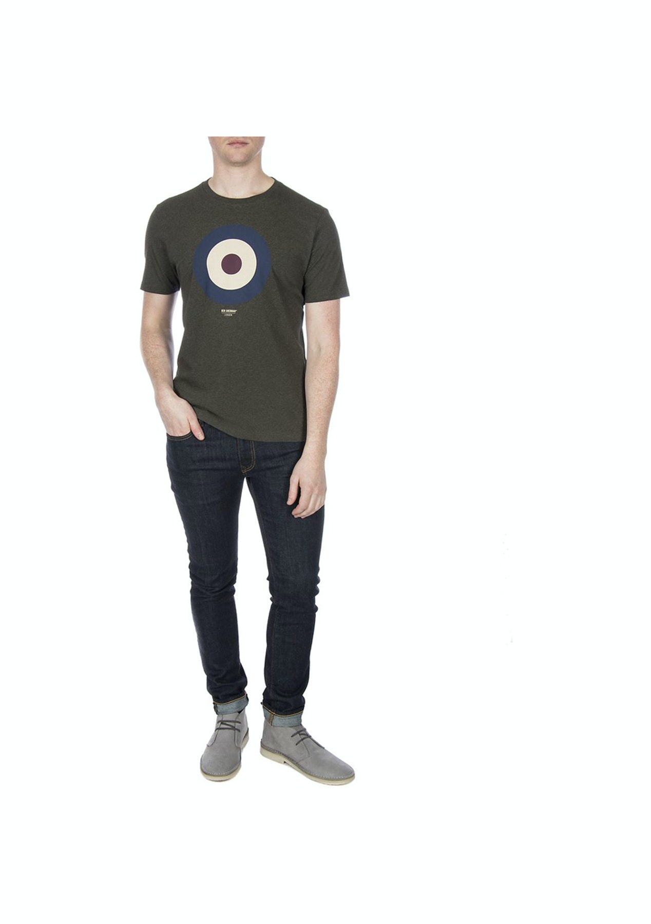 26c5ce4e7 Ben Sherman - The Target Tee - Peat - The Big Warehouse Clearout - Onceit
