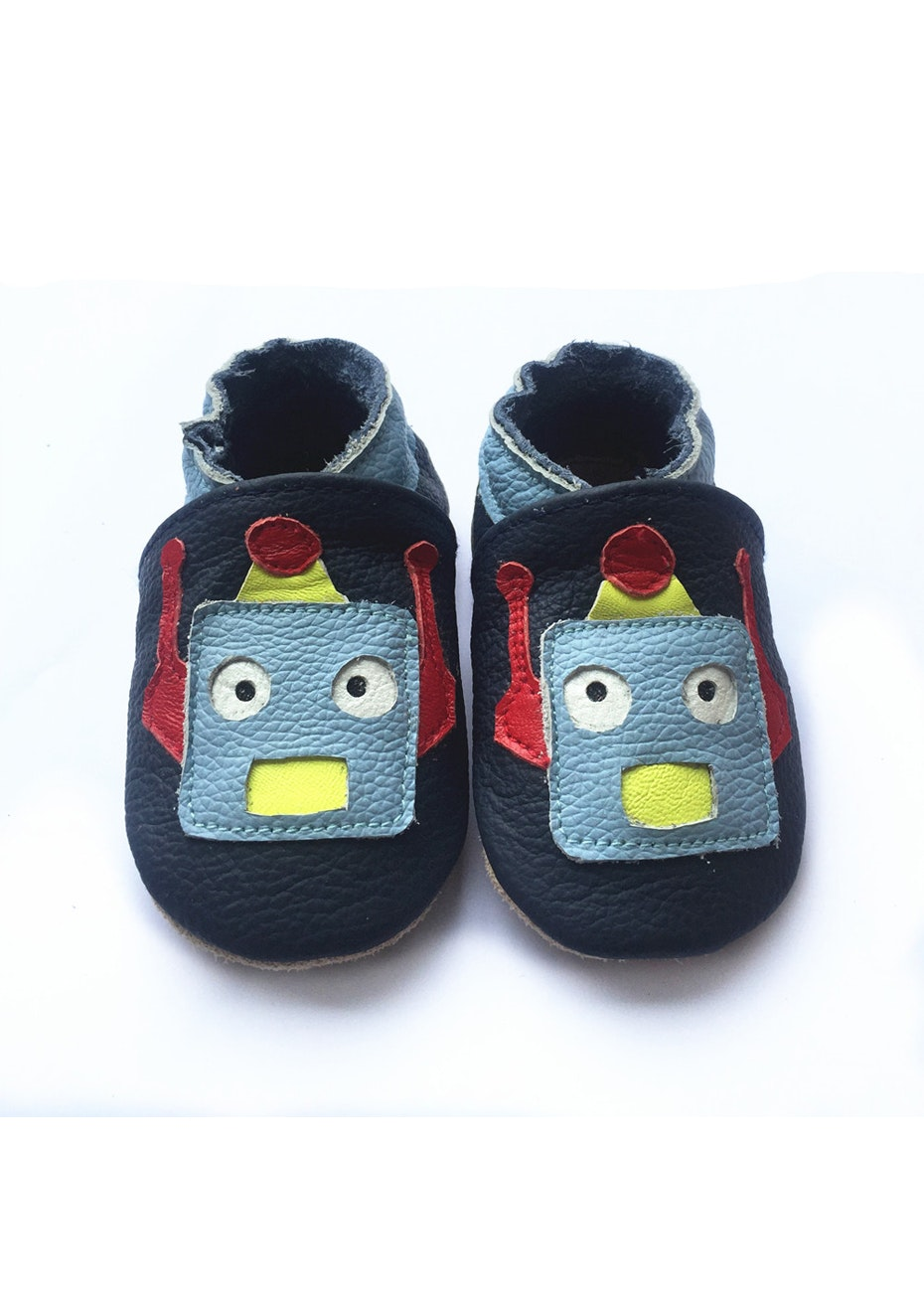 Baby  Leather Shoes - Navy / Robbot