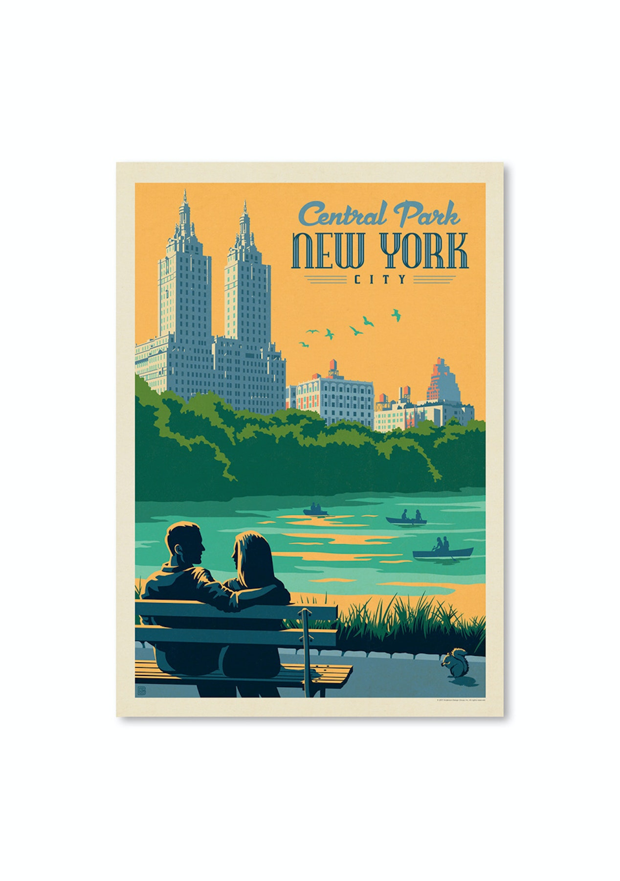 Nyc Central Park Bench Vintage Style Travel Posters Onceit