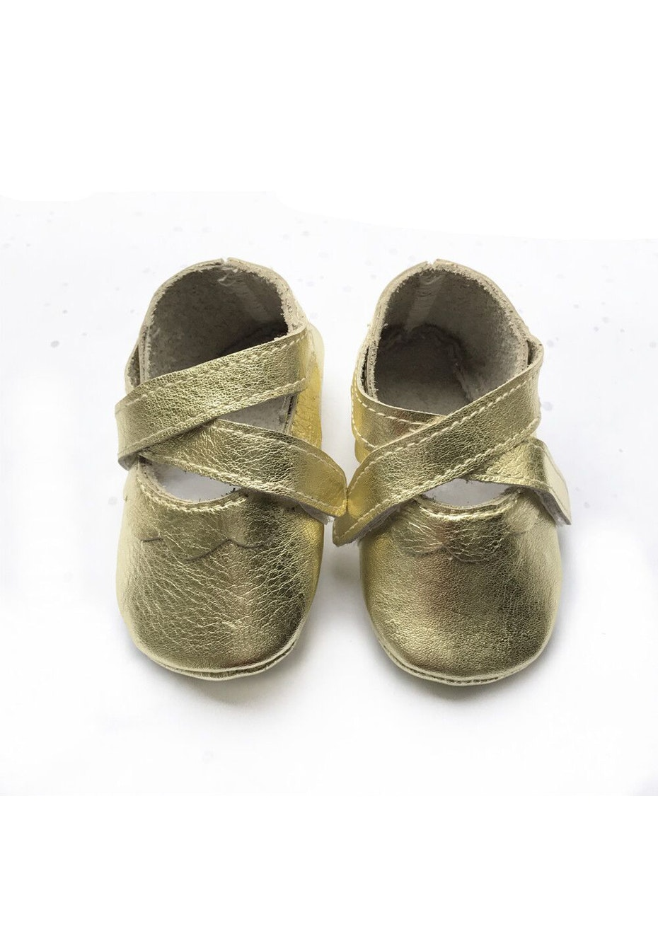 Baby  Leather Shoes - Gold