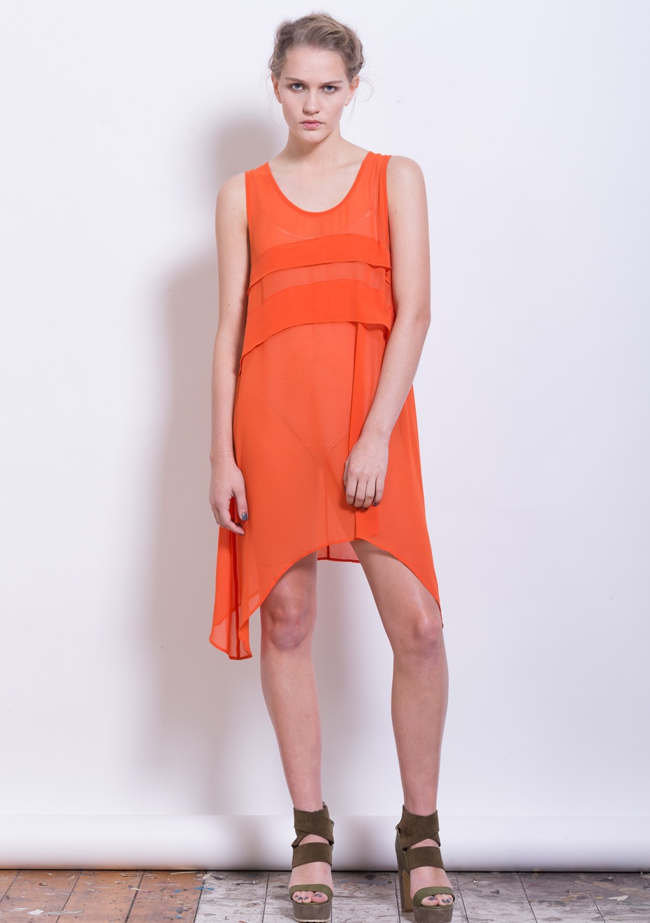 x-plain - Surrealism Dress Top - Persimmon