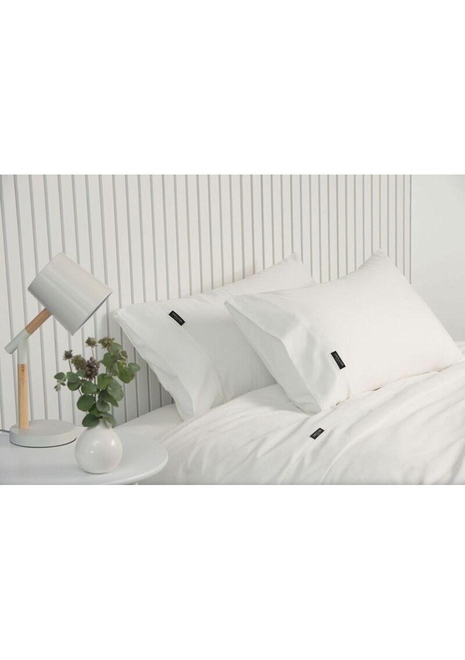 Sheraton Luxury 1000 TC CVC Sheet Set King Single Bed   White   Sheraton  1000TC Sheets   Onceit