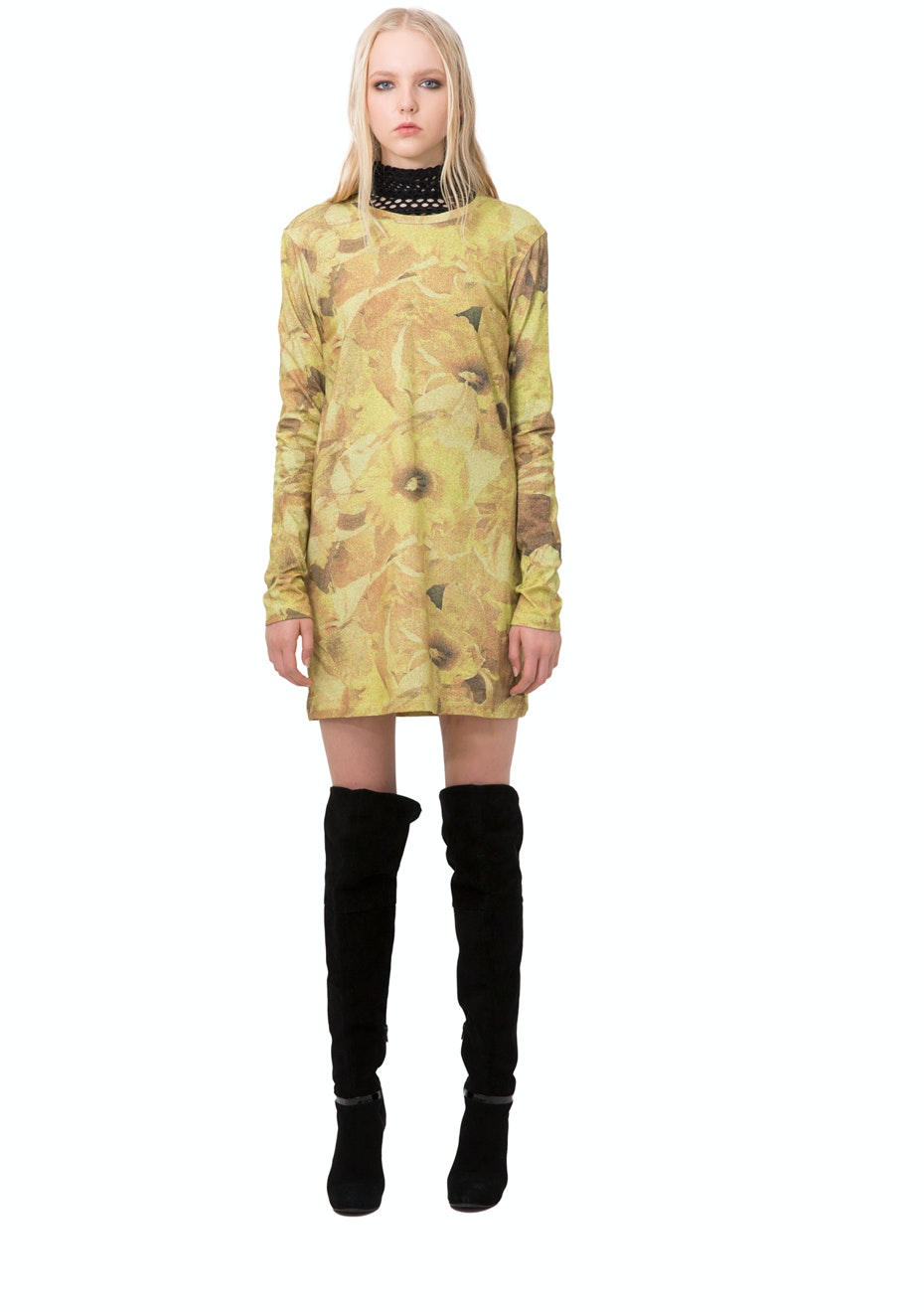 Stolen Girlfriends Club - Daffy Long Sleeve Dress - Daffodil