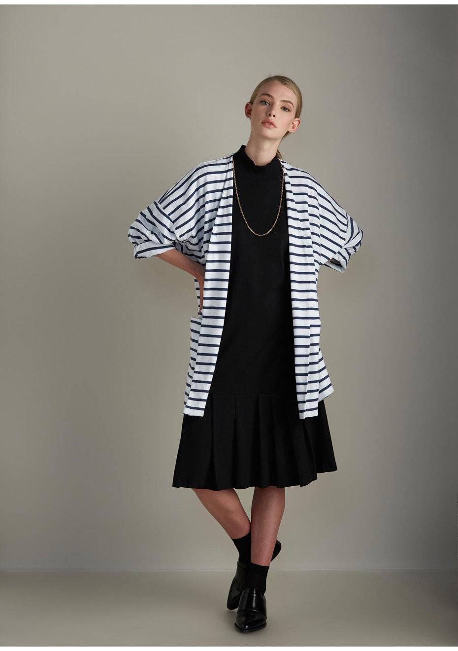 Kowtow - Gesture Cardigan - Blue & White Stripe